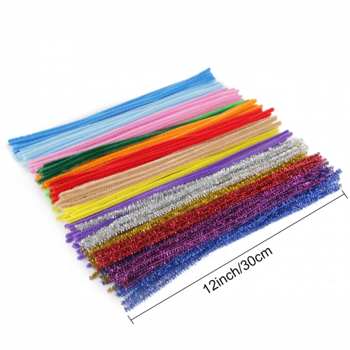 Pipe Cleaners, Pack of 1000 Pieces Jumbo Pipe Cleaners Crafting DIY Projects Pipe Cleaners Bulk 20 Colors Bundle Bling-Bling/Matte Colors Available Id