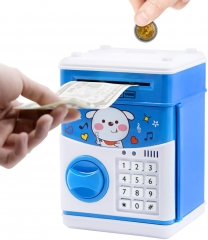 Electronic Piggy Bank, ATM Piggy Bank for Boys, ATM Money Bank for Adults with Password, Kids ATM, Educational and Fun Mini ATM Electronic Coin Bank B